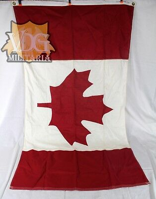 "Antique/Vintage Canadian Maritime/Naval Flag-36""x61"" Inches"