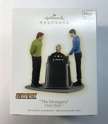 "NIB Hallmark Keepsake Ornament - Star Trek ""The Menagerie"" Light and Sound 2009"