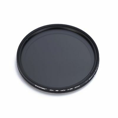 ZOMEI 52/55/58/62/67/72/77/82mm Variable Neutral Density Fader Filter ND2-400