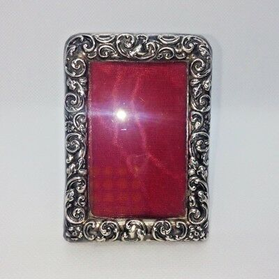 Miniature Victorian Sterling Silver .925 92.5% Photo Frame Antique 1900