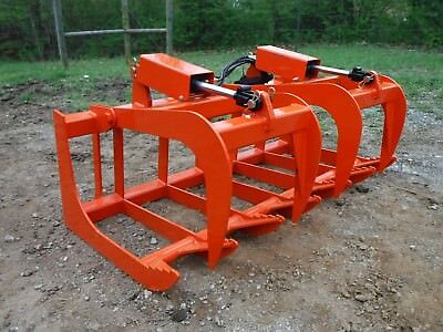 """Kubota Tractor Attachment 60"""" Dual Cylinder Root Grapple Bucket - $99 Ship!"""