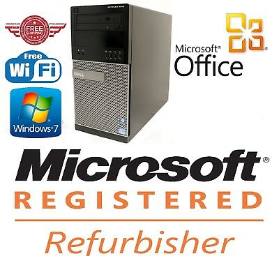 REFURBISHED Dell OptiPlex 390/ 790/ 990 MT Quad Core i5-2400 3.10GHz Win 7 or 10