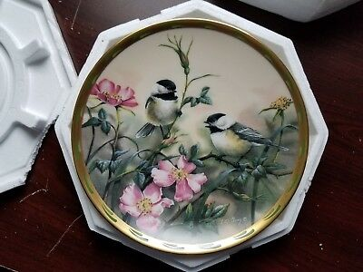 Lenox Nature's Collage Plate w/COA - Rose Morning by Catherine McClung