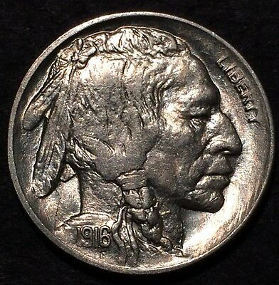 1916 buffalo nickel U.S. Mint Philadelphia #258 Uncirculated