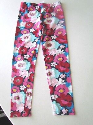 Gymboree Girls Floral Leggings Sz. M (7/8)