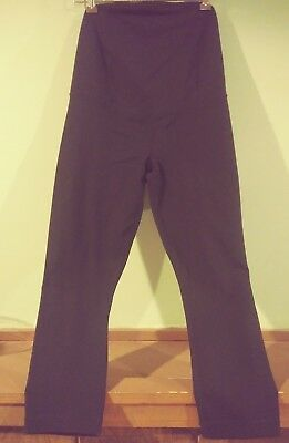 Be Maternity by Ingrid & Isabel Black Crossover Capri Size: Small