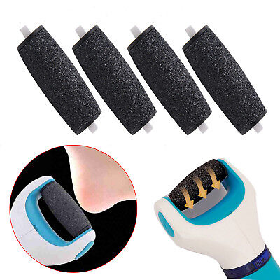 4x Pedi Hard Skin Coarse Replacement Rollers Heads For Scholl Velvet Smooth