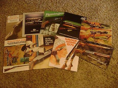 Lot of 10: 1970's Vintage  Winchester, Weatherby Remington Colt, Savage Catalogs