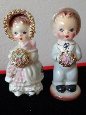Vintage Josef Originals CAROL & TEDDY Boy & Girl Figurines CALIFORNIA
