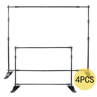 4*10' x 8' BANNER STAND DISPLAY CHANGEABLE DISPLAY STEP AND REPEAT TELESCOPIC