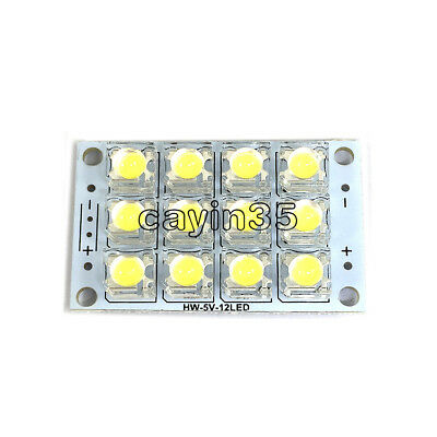 DC 3V-5V 12-LED Super Bright White Piranha LED board Night LED Lights Lamp UK