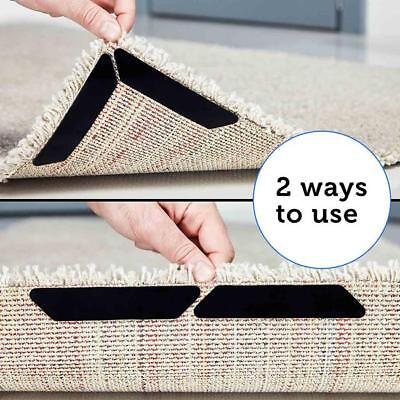 8pcs Home Rug Carpet Fabric Mat Grippers Non Slip Grip Corners Anti Skid JA