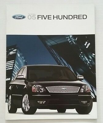 Vintage 2005 Ford Five Hundred 30 Page Car Auto Sales Brochure Free Shipping