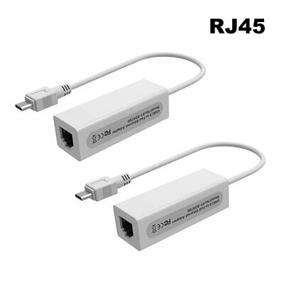 5 Pin Micro USB To RJ45 LAN Ethernet Network Adapter For Tablet PC Android White