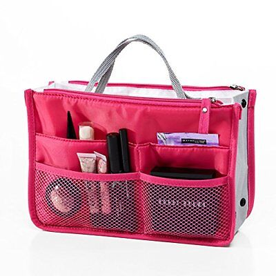 Travel Double Zipper Portable Storage Organiser Mesh Make up Wash Bags in Bag