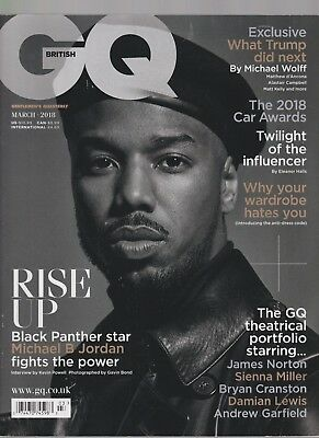 Gq British Magazine Rise Up Black Panther Star March 2018