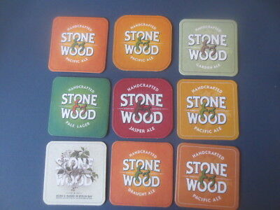 9 different STONE & WOOD craft Brewery ,New South Wales BEER  COASTERS