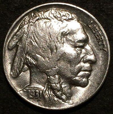 1931 S buffalo nickel #109 U.S. Mint San Francisco FULL HORN AU/BU