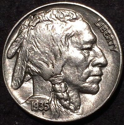 1935 buffalo nickel #270 U.S. Mint Philadelphia AU/BU