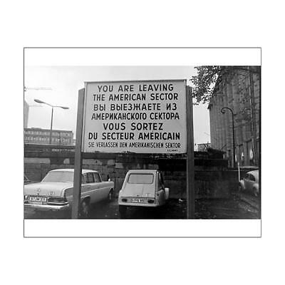 """10""""x8"""" (25x20cm) Print Sign in four languages, Berlin Wall, Berli..."""