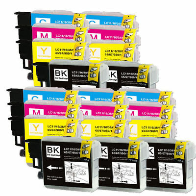 20 PK Ink Cartridges Compatible for Brother LC61 MFC-295CN  MFC-490CW MFC-J265w