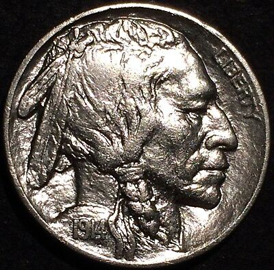 1914 buffalo nickel U.S. Mint Philadelphia #127 AU/BU