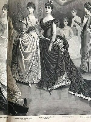 DIGITAL PATTERNS REAL SIZE 2 sheets- MODE ILLUSTREE SEWING PATTERN Jan 10,1886