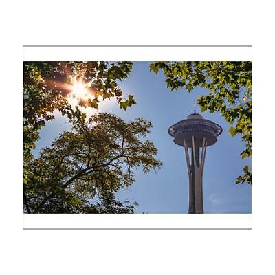"""14525471 10""""x8"""" (25x20cm) Print Top of Space Needle from Seattles..."""