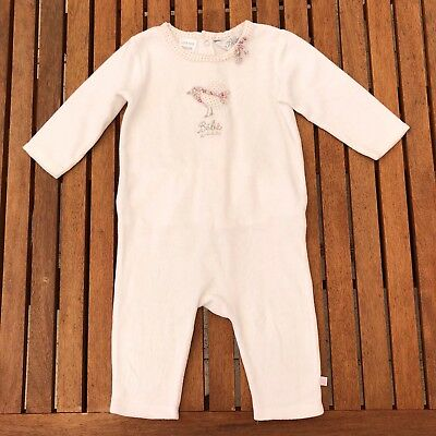 bebe by minihaha white velour suit size 0