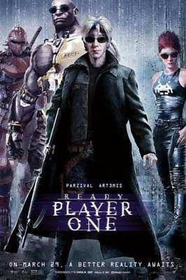 Art Poster Ready Player One Science Fiction 2018 Movie 36 27x40in Wall Silk N323