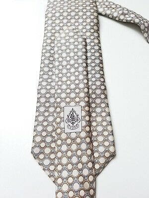 Used Men's Gucci 100% Authentic Silk Rings Tie Made In Italy