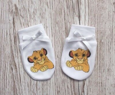 Lion King 'simba' Inspired Baby Scratch Mitts/mittens