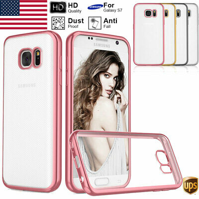 Transparent Hybrid TPU Soft Clear Gel Cover Case For Samsung Galxy S7/S7 Edge