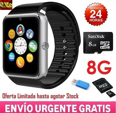 Smartwatch Reloj Inteligente Phone GT08 Android IOS Bluetooth SIM NFC + SD 8GB