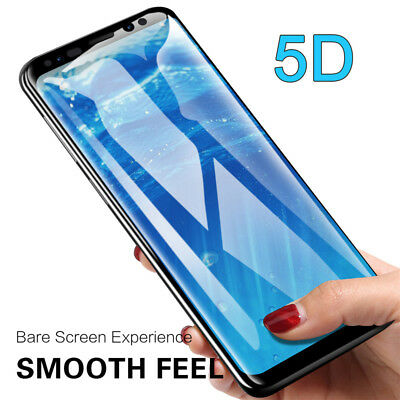 2Pack 5D Curved Full Tempered Glass Film Protector for Samsung Galaxy S8 S9 Plus