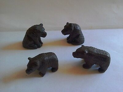 4 Miniature Black Forest Bears....