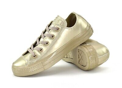 CONVERSE CT ALL STAR LIQUID METALLIC OX - SILVER or GOLD - WOMENS SNEAKERS - NEW