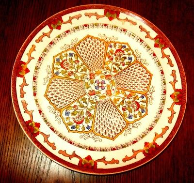 Very Rare Large Antique 19th Century Wedgwood & Co Plate in Scinde Pattern