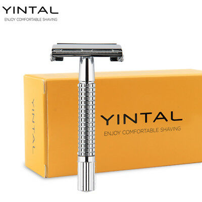YINTAL Double Edge Safety Razor Copper + Plating Men's Manual Portable Shaver