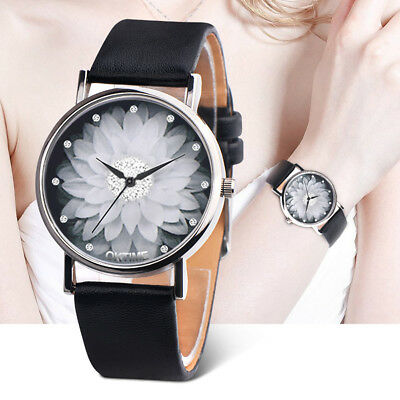 2018 Womens Fashion Casual Watch Ladies Faux Leather Analog Quartz Wrist Watches