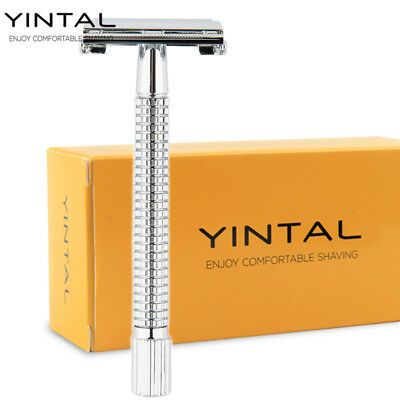 "Safety Razor Long Handle 115 mm/4.53"" Brass Men's Shaving Classic Shaver"