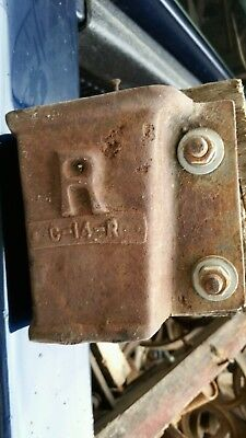 4 Antique original vintage Lineberry factory cart corners hardware Industrial