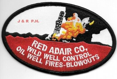 """Red Adair  Oil Well Fires - Blowouts, Texas  (4.5"""" X 3""""  size) fire patch"""