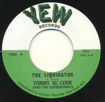 ** TOMMY McCOOK & SUPERSONICS  THE LIQUIDATOR  SOUGHT AFTER BOSS REGGAE RARITY!!