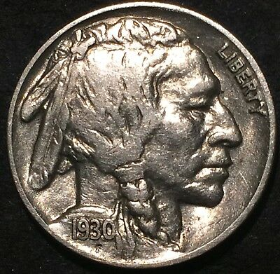 1930 buffalo nickel #269 U.S. Mint Philadelphia Full Horn Almost Uncirculated