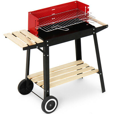 Flame Master Bbq.Flamemaster Charcoal Trolley Bbq Barbecue Excellent Heat