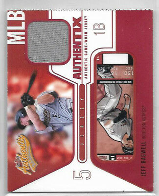 2004 Fleer Authentix Game Jersey #JB2 Jeff Bagwell RIPPED