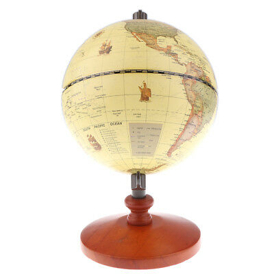 "5.5"" Vintage Earth Globe World Map Geography Geographic Globe Desktop Decor"