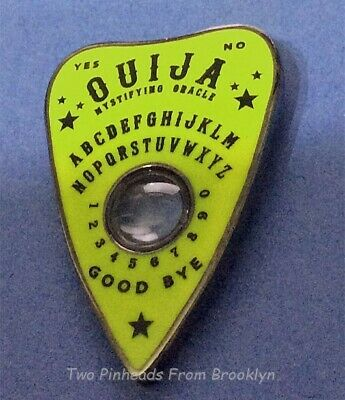 Ouija Board Lime Green Planchette Novelty Collector Lapel Pin