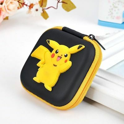 NEW Pokemon Pikachu Kids Boys Girls Rubber Coin Purse Wallet Headset Bag Gift